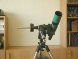 Default eastern position of the telescope: The telesope points to the Equator