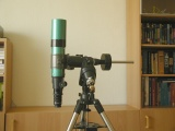 Default position of the telescope: The telesope points to the Zenith at the western side.