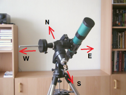 Default eastern position of the telescope